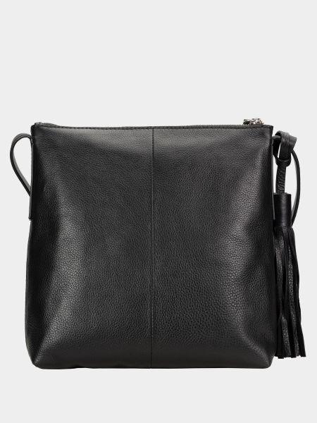 Кожаная сумка через плечо - черная Clarks