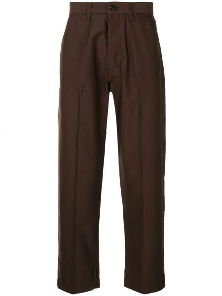 Коричневые прямые брюки с поясом новогодние Tomorrowland