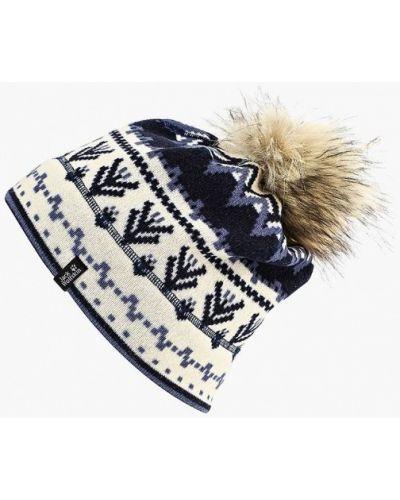 Белая шапка осенняя Jack Wolfskin