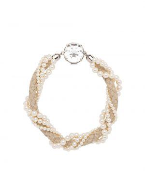 Naszyjnik perły srebrny Miu Miu