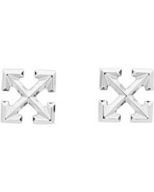 Kolczyki ze srebra Off-white