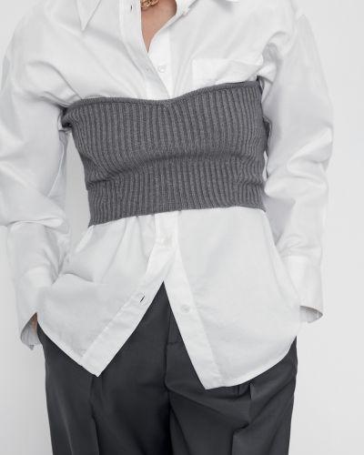 Укороченный топ - серый Zara