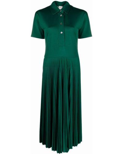 Зеленое платье с воротником Paul Smith