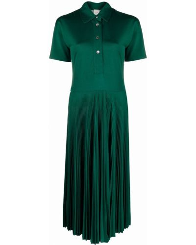 Платье миди с короткими рукавами - зеленое Paul Smith