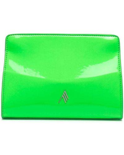 Zielona kopertówka skórzana The Attico