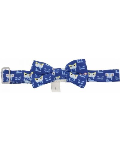 Шелковый синий галстук-бабочка с бабочкой Fendi Kids