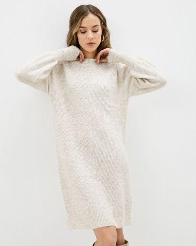 Бежевое вязаное платье Selected Femme