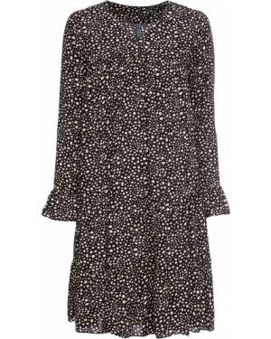 Платье мини миди с оборками Bonprix