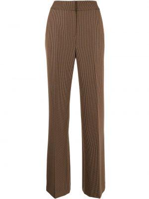 Расклешенные коричневые брюки с карманами Veronica Beard