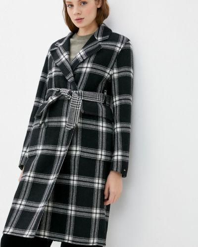 Черное пальто двубортное Tommy Hilfiger