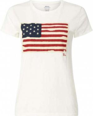 Koszula z haftem z dekoltem Polo Ralph Lauren