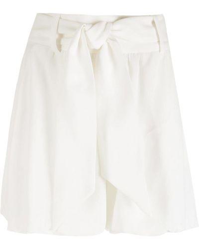 Белые с завышенной талией шорты с карманами Nk