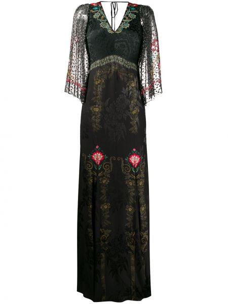 Открытое черное платье макси с открытой спиной Etro