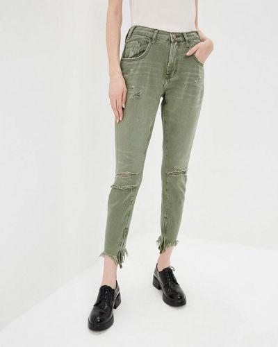 Зеленые джинсы-скинни One Teaspoon
