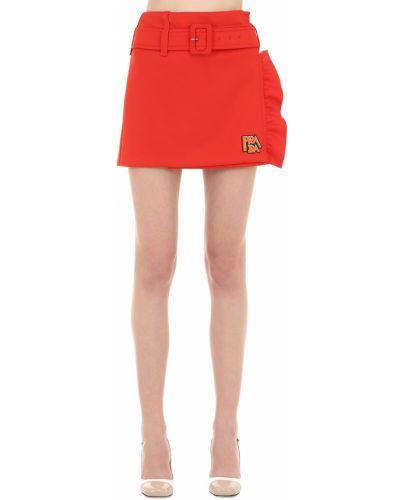 Трикотажная юбка мини - оранжевая Prada