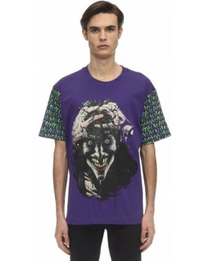 Fioletowy t-shirt bawełniany Mjb Marc Jacques Burton
