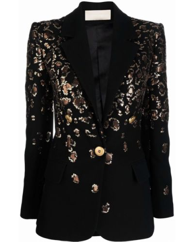 Пиджак с пайетками - черный Elie Saab