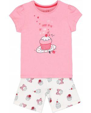 Пижама розовый белая Mothercare