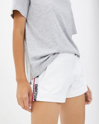 Белые зимние брюки Moschino Underwear