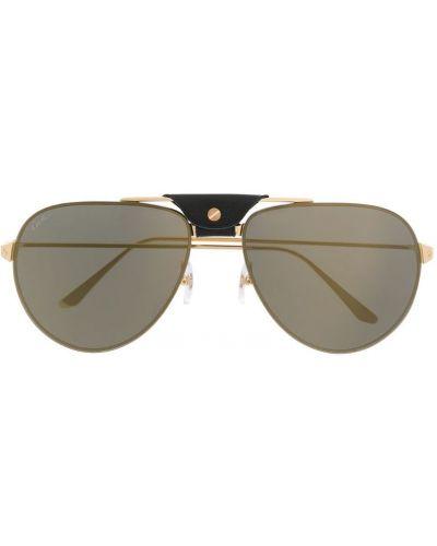 Очки авиаторы солнцезащитные желтый Cartier