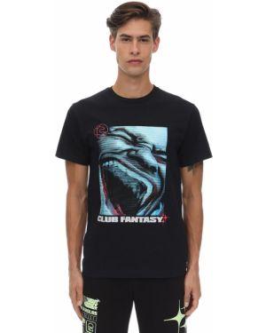 Prążkowany czarny t-shirt bawełniany Club Fantasy