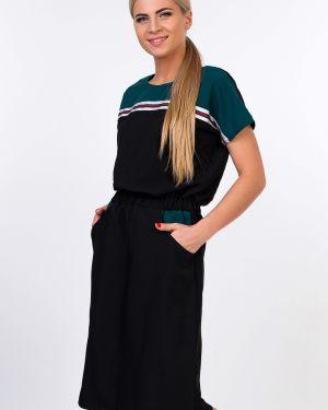 Платье с карманами - черное Kapsula