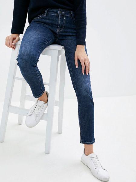 Синие джинсы-скинни с пайетками Galvanni