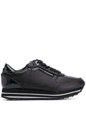 Кожаные черные кроссовки на платформе Tommy Hilfiger