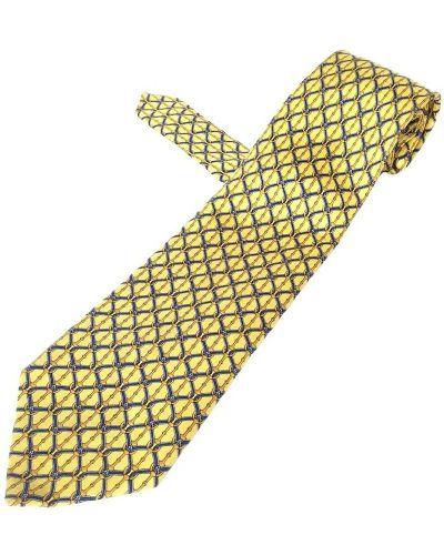 Krawat z jedwabiu - żółty Burberry Vintage