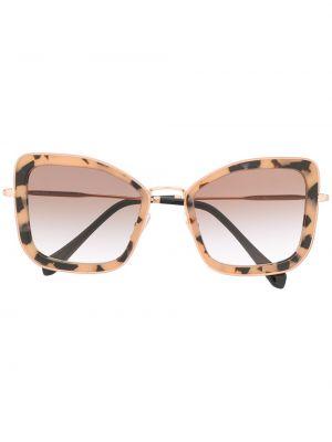 Розовые солнцезащитные очки металлические скинни Miu Miu Eyewear