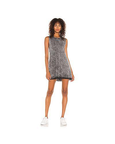 Шелковое серое платье Michael Lauren