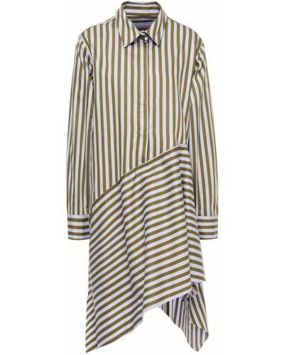 Sukienka mini asymetryczna w paski zapinane na guziki Marques Almeida