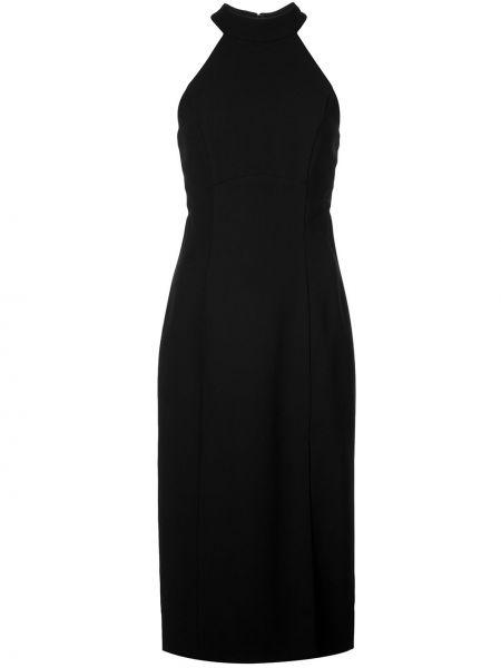 Черное вечернее платье с вырезом Amsale