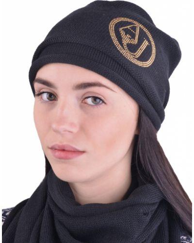 Акриловая черная шапка Armani Jeans