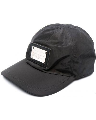 Czarny czapka z daszkiem Dolce And Gabbana
