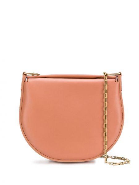 Кожаная розовая кожаная сумка Stiebich & Rieth