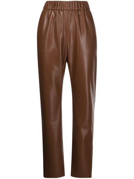 Коричневые кожаные брюки Anine Bing