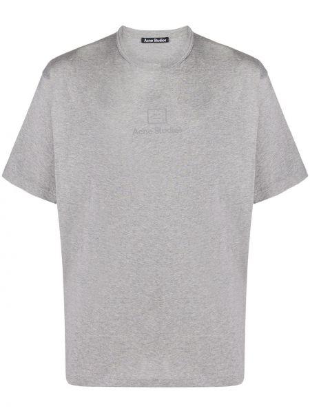 Bawełna światło prosto koszula z krótkim rękawem krótkie rękawy Acne Studios