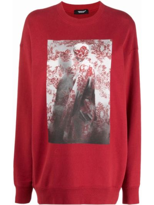 Красный свитшот с принтом Undercover