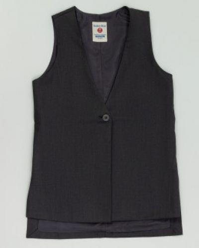 Школьная серая жилетка Button Blue