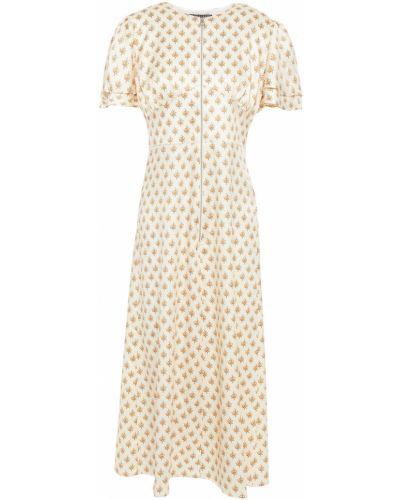 Satynowa sukienka midi z printem Alexachung
