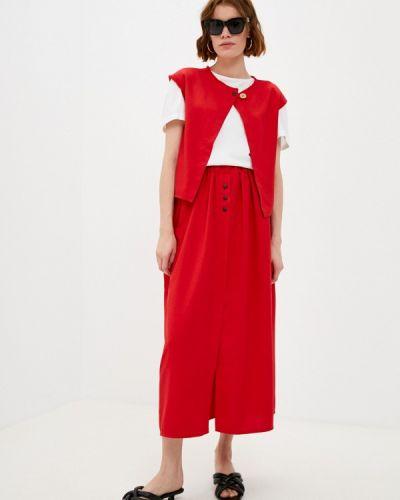 Красный весенний костюм Be Main