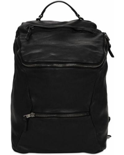 Czarny plecak skórzany Giorgio Brato