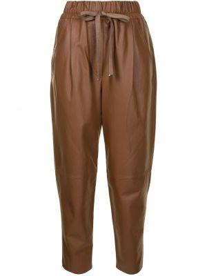 Зауженные коричневые брюки с поясом Ginger & Smart