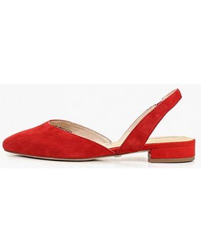 Туфли на каблуке с открытой пяткой замшевые Tamaris