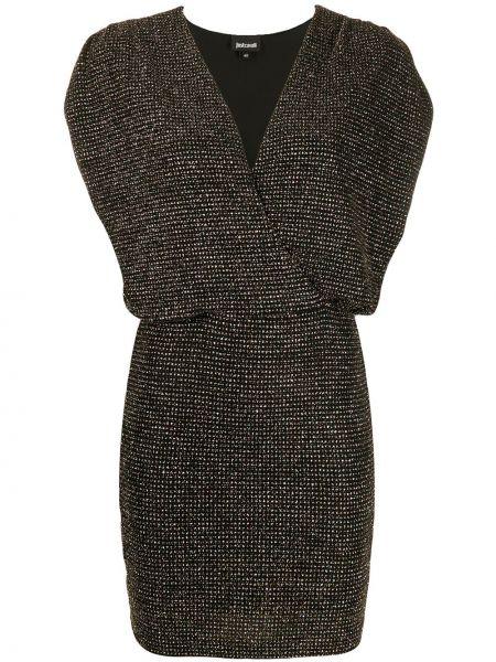 Облегающее платье мини с запахом на молнии Just Cavalli
