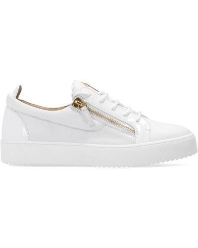 Białe sneakersy sznurowane Giuseppe Zanotti
