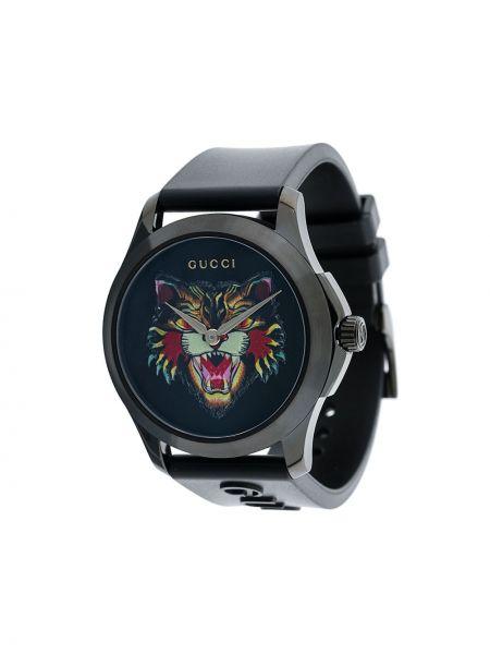 Часы водонепроницаемые круглые желтый Gucci