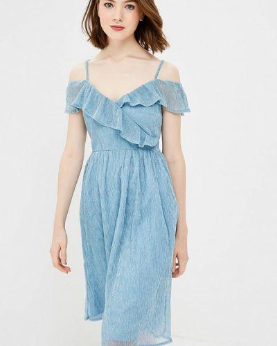 Голубое платье осеннее Yumi