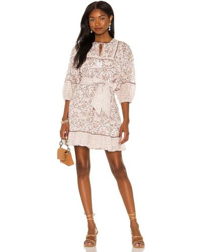 Beżowa sukienka z printem Cleobella